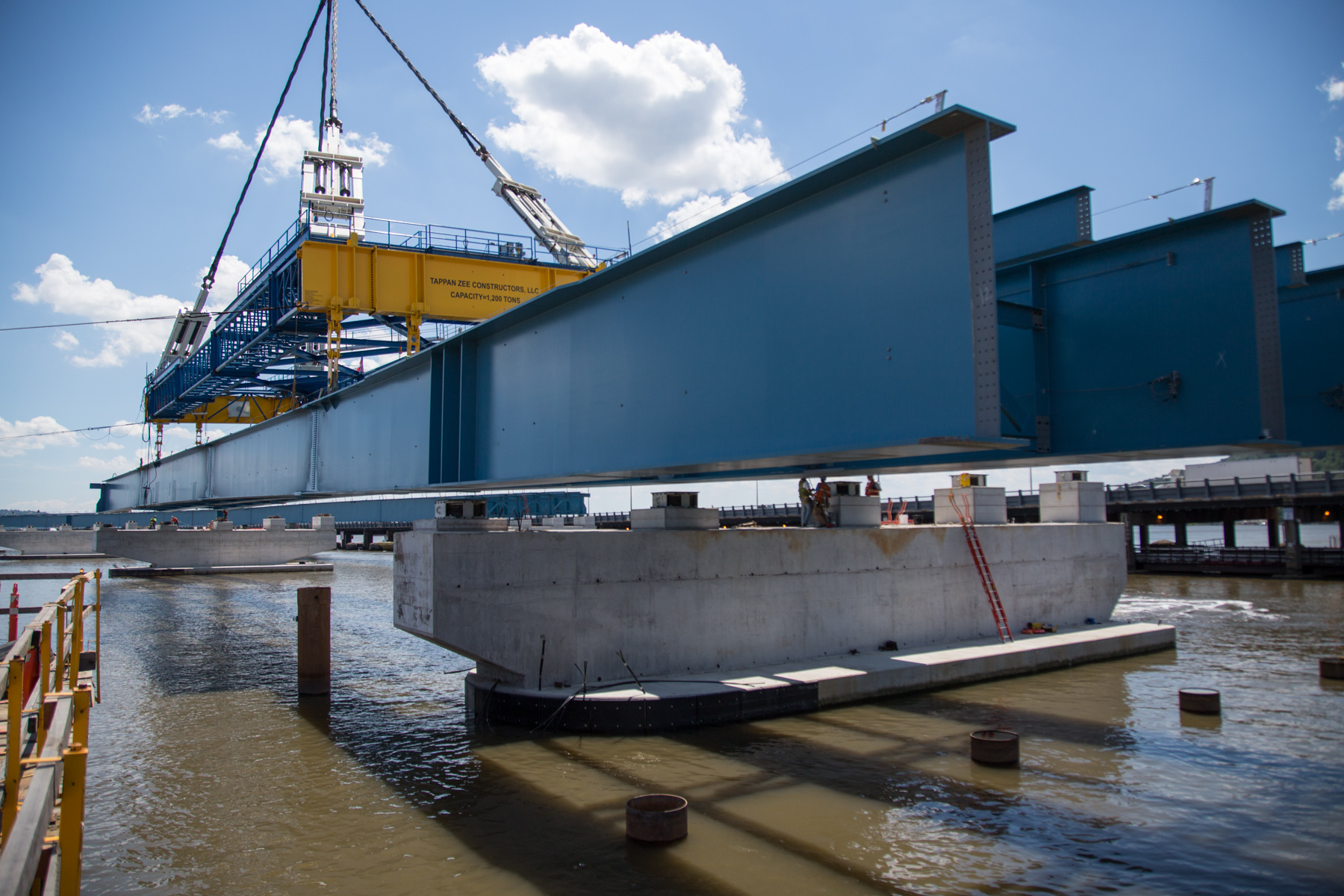 I Lift Ny Supercrane, Westbound, Girder Placement, Girder, Lift, Crane, Pier 4, Pier 5