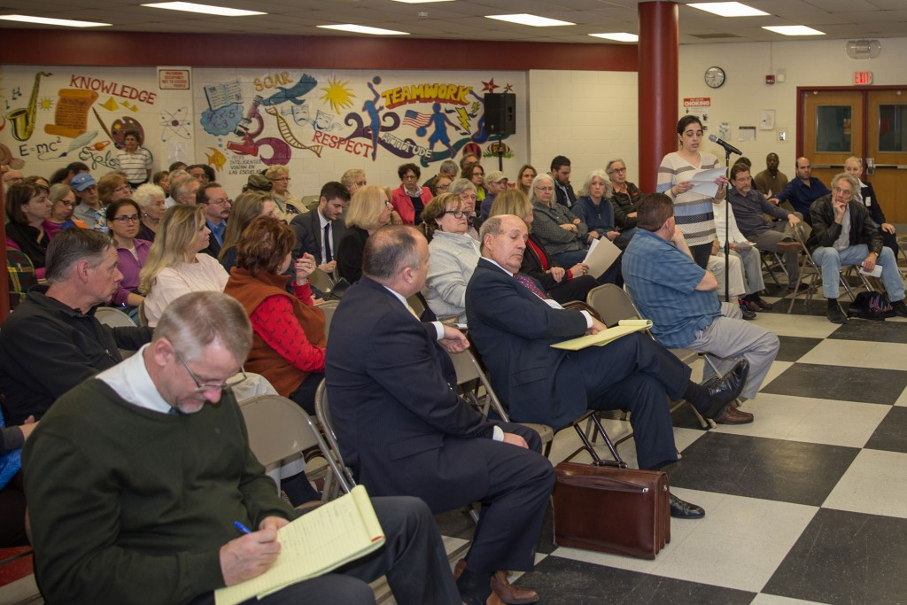 Stakeholders voice their opinions at a public hearing in South Nyack.
