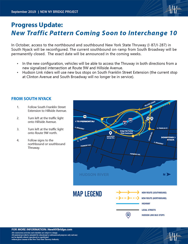 New Traffic Pattern – Interchange 10